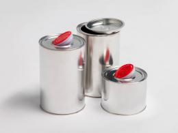 Cylindrical packaging for chemical products